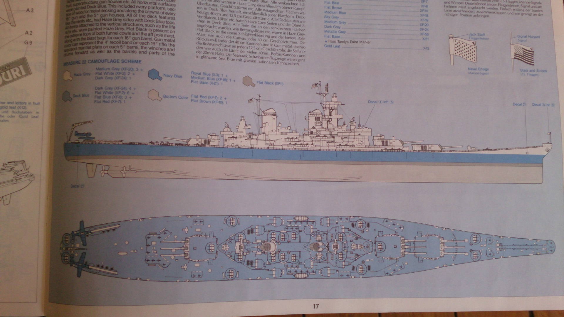 USS MISSOURI 1/350 TAMIYA 845506Missouribb6330