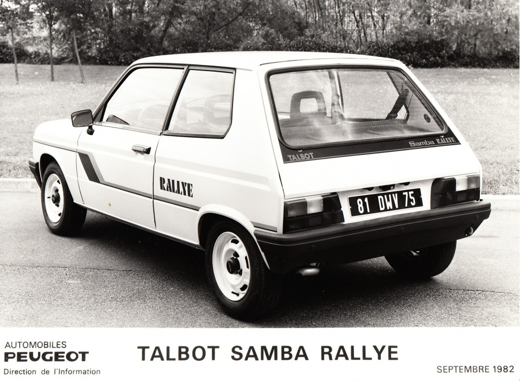 Dossier de presse Talbot Samba Rallye (septembre 1982) 848608a0012