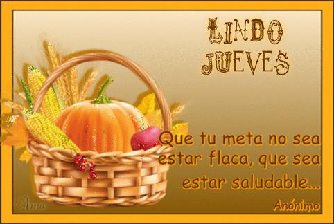 Canasta Saludable con Frase 849391JUEVES