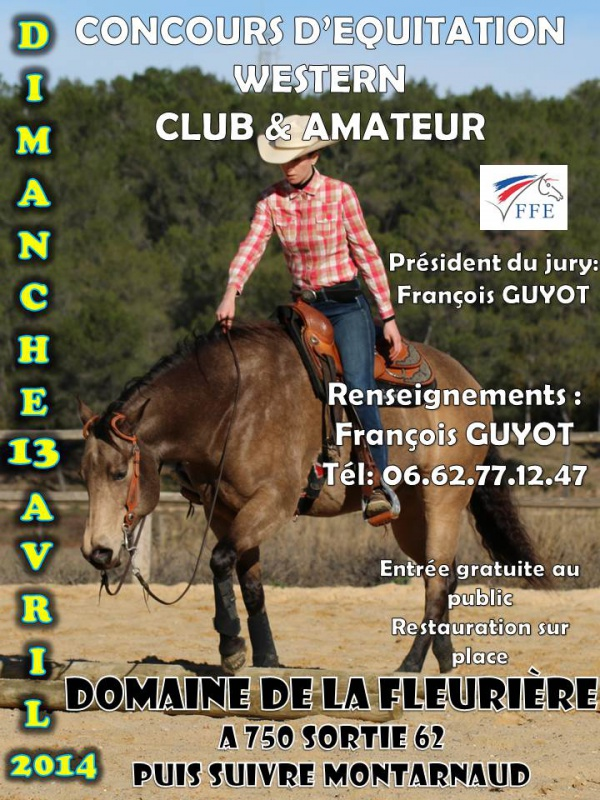 13 Avril, Concours d'équitation western FFE, Montarnaud (34) 855162Afficheconcours2014