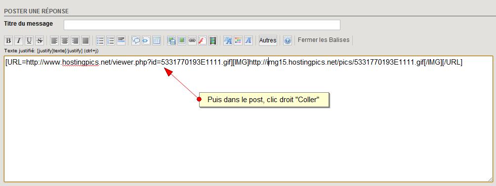 Comment insérer une image avec un Hébergeur d'Images  859149Host4