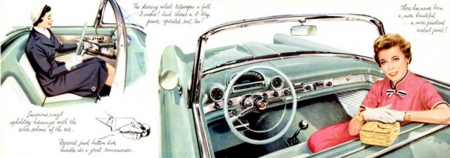 ford thunderbird 1955 au 1/16 de chez amt  864308brochure19554