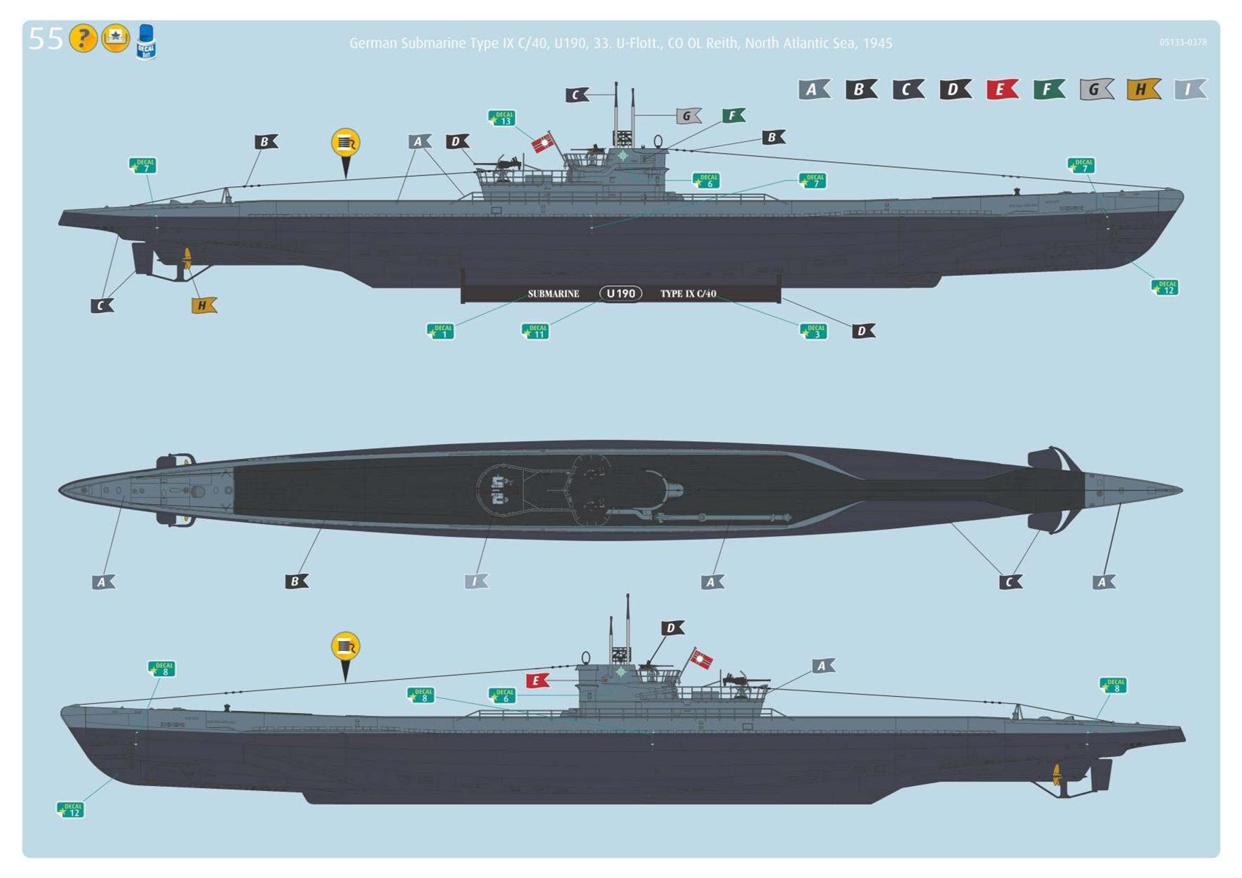 Revell U-Boot type IXC au 1/72ème 865563805133UbootIXcnouveau21