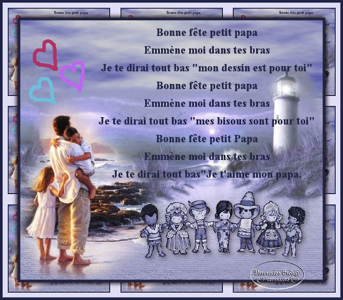 """44 """"Bonne fête mon petit Papa """" tuto de vannades cré@ 872255Bonneftepapa"""