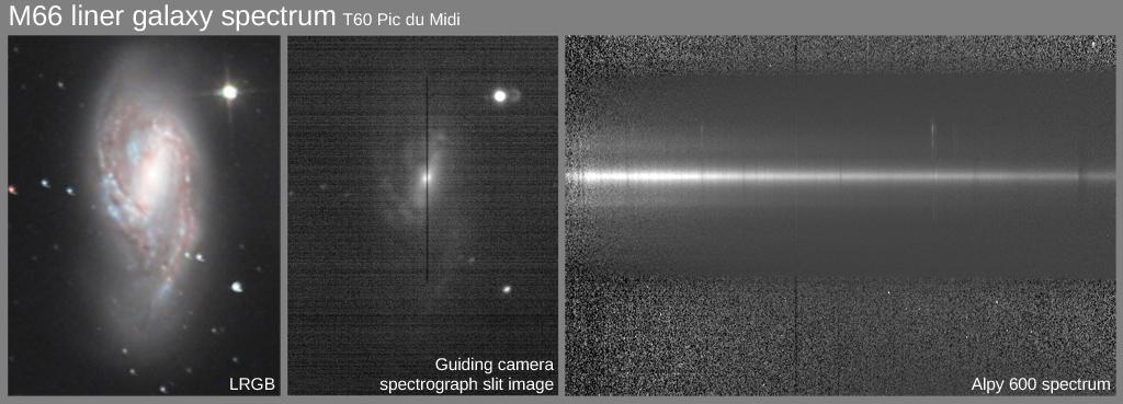 Vitesse radiale de la galaxie M66 depuis le Pic du Midi 873310M66spectrumPic