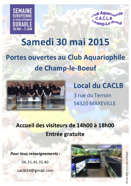 Porte ouverte club aquario de Champ-le-Boeuf 30 mai 2015 873828AffichePOCACLB2015page0001