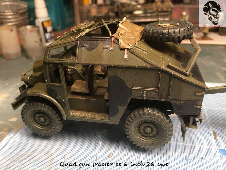Quad gun tractor et 6 inch 26 CWT en Normandie 1/35 875964IMG4811