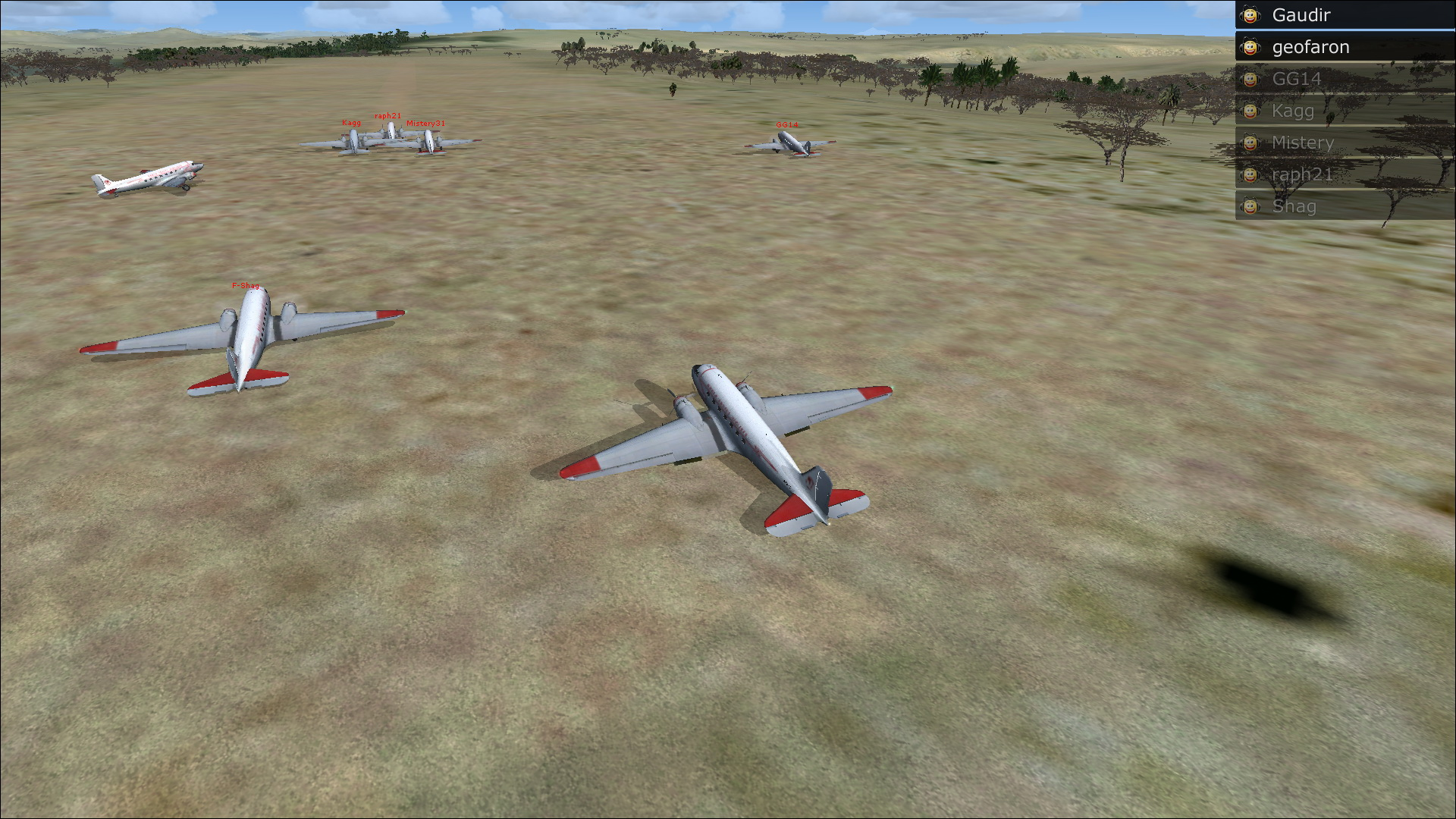 Vol en formation en Afrique (DC3) 876411201322222414950