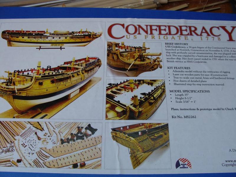 "US  Frigate CONFEDERACY 1778  de Model Shipways  au3/16"" 878687DSC01855"