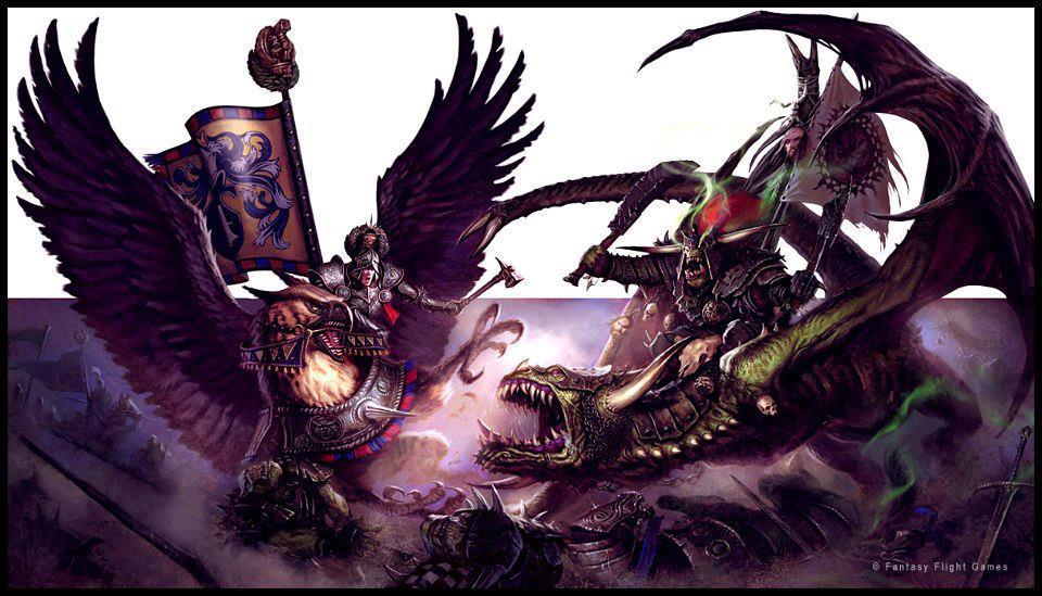 [Warhammer Fantasy Battle] Images diverses 881581EmperorKarlFranzonGriffonversesOrcWarlordonWyvern