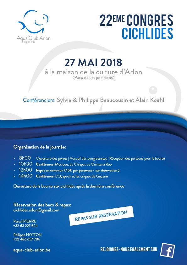 22ème congrès cichlidés - Arlon (BE) - 27 mai 2018  887400ACAAffiche2018NET1