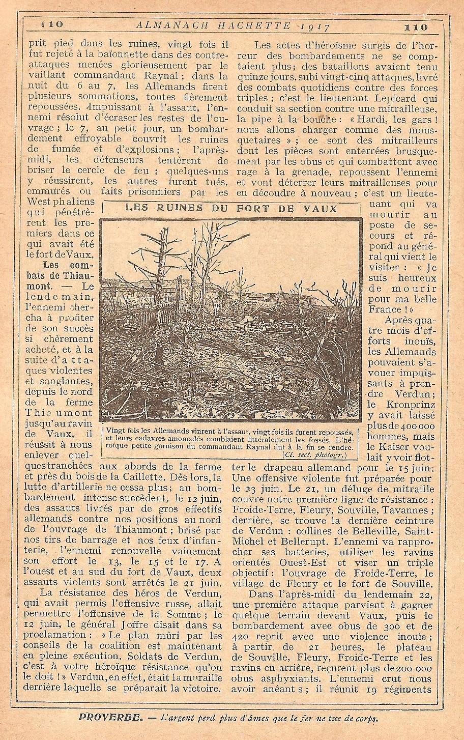 [HISTOIRES ET HISTOIRE] [SUJET UNIQUE] LE CENTENAIRE DE LA GRANDE GUERRE - Page 5 892300Verdun13