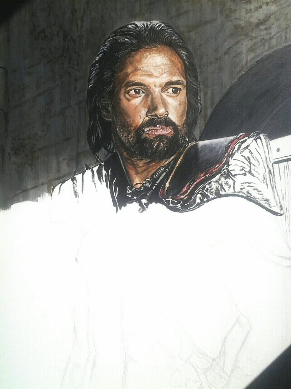 crixus portrait acrylique en cours 8925792014030214151062