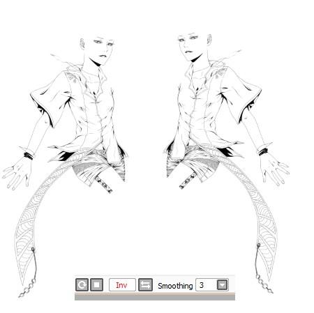 Vectoriel - [Tutoriel] Le calque vectoriel sous Paint tool Sai [Dreamy] 893101649