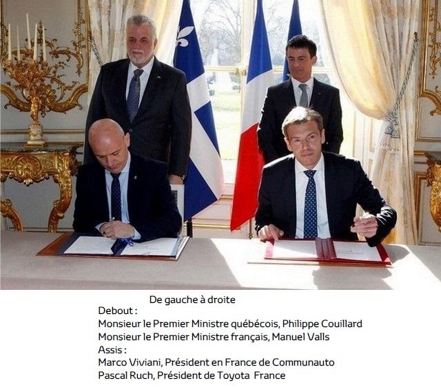 Communauto et Toyota France signent une entente de partenariat pour proposer la Yaris Hybride en autopartage 893387CommunautoToyota1