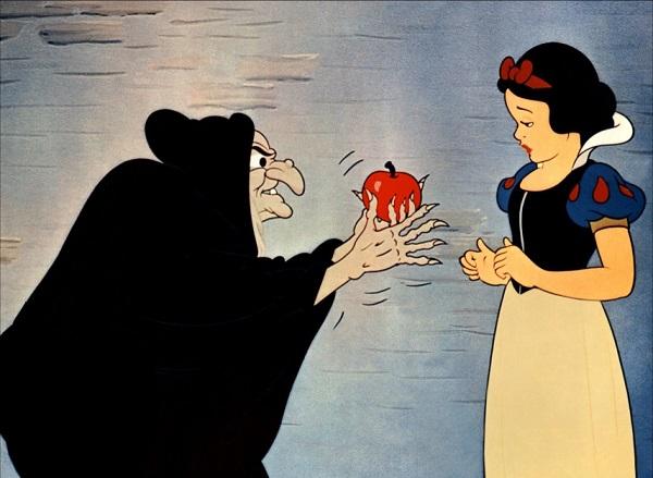 Pommes Empoisonnée D Amour Dans Le Dessin Animé Blanche