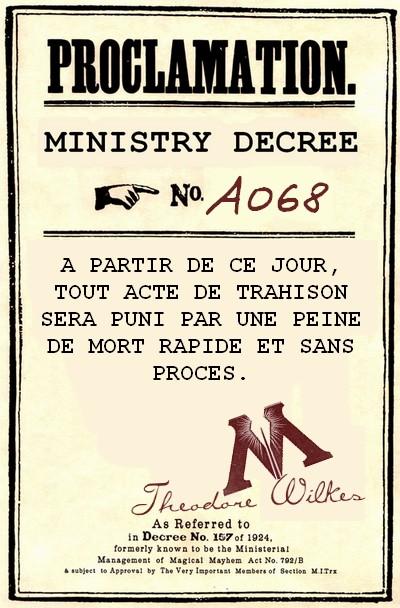 Décrets du ministère de la Magie 894822DECRET1B