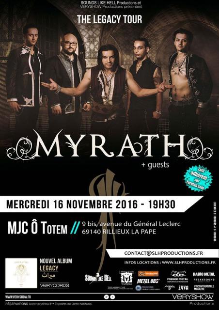 16.11 MYRATH + GUEST @ Mjc ô Totem Lyon 898855MYRATH