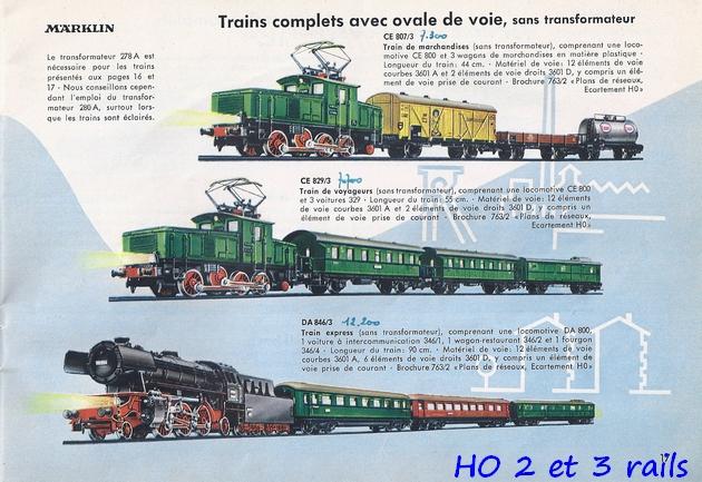 Coffrets Märklin 1936 - 1968 (rouges, noirs, verts ou bleus) 900919Marklincatalogue19562R