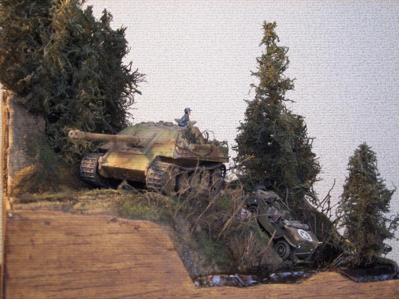 diorama - diorama au 1/76eme : ... Mauvaise surprise !!! Ardennes 44... 9042980009