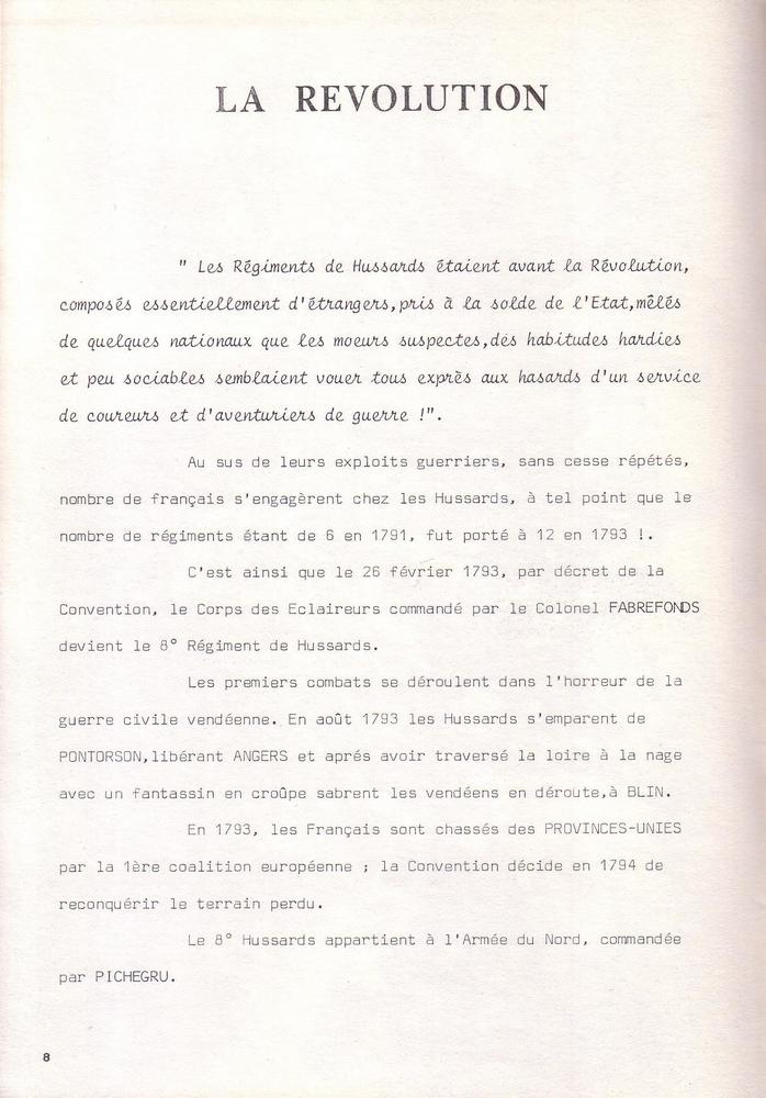 L'épopée Napoléonienne du 8 ème Régiment de Hussards  905095Historique8RHN08