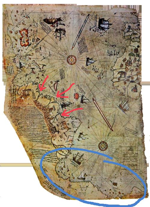 Les références historiques dans Nadia - la carte de l'Antarctique (Ep 18) 907329pirireis1513
