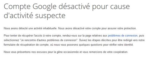 Compte Google bloqué : au secours !!! 908902google