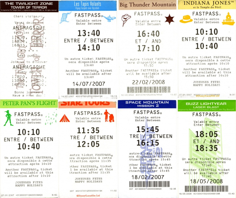 [Fastpass] Le système Fastpass, VIP Fastpass, Fastpass PREMIUM & Disney's Hotel Fastpass 909819fastpass