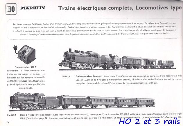 Coffrets Märklin 1936 - 1968 (rouges, noirs, verts ou bleus) 912178Marklincatalogue19511R