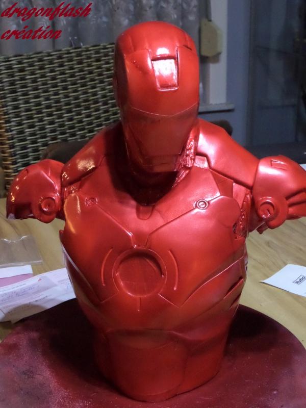 dragonflash création : buste iron man 1/2  (+-40 cm de haut) le final 9146294615