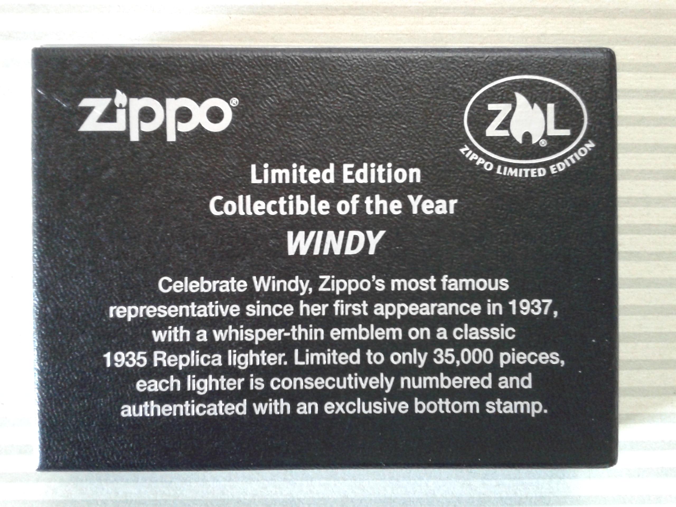 Les boites Zippo au fil du temps - Page 3 915634WindyCOTY20133