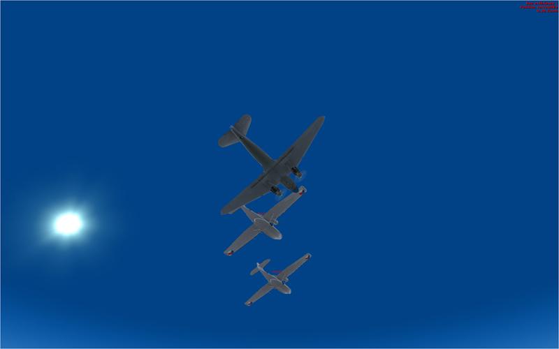Vol en formation en Afrique (DC3) 9171312013222222733376