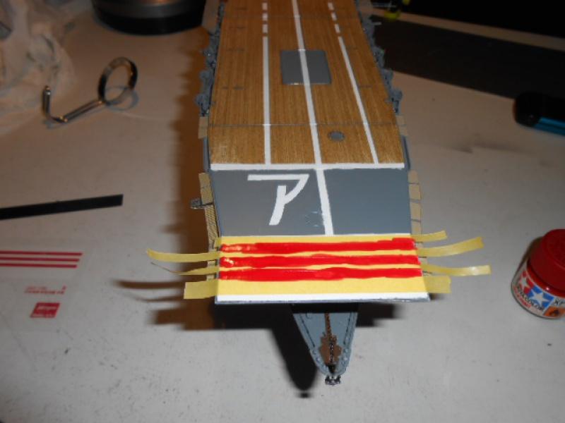PA AKAGI 1/350 de chez Hasegawa PE + pont en bois par Lionel45 - Page 5 918674Peintureaka020