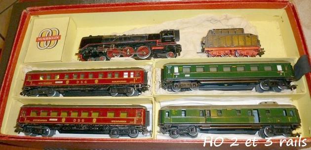 Coffrets Märklin 1936 - 1968 (rouges, noirs, verts ou bleus) 919653MarklincoffretHR8464avecHR800R