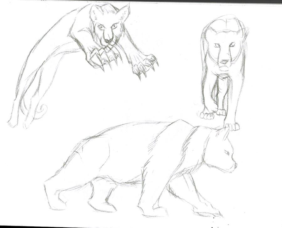 Dragons, chimères et créatures arc-en-ciel - Page 3 925139sketchfauvesmouvements