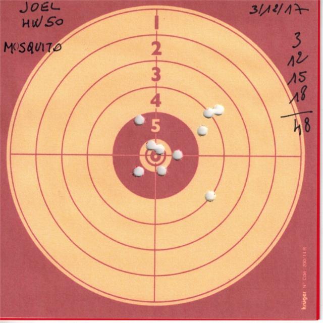 weihrauch - Tests plombs avec carabine Weihrauch HW50S 927216HW50UMAREXMOSQUITO
