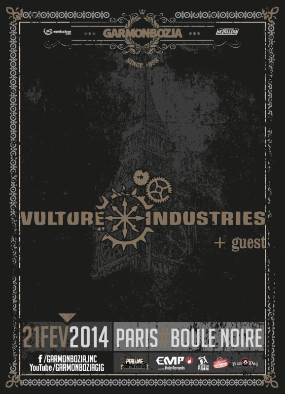 21.02 - Vulture Industries  @ Paris 92833920140221vultureIndustriesv2