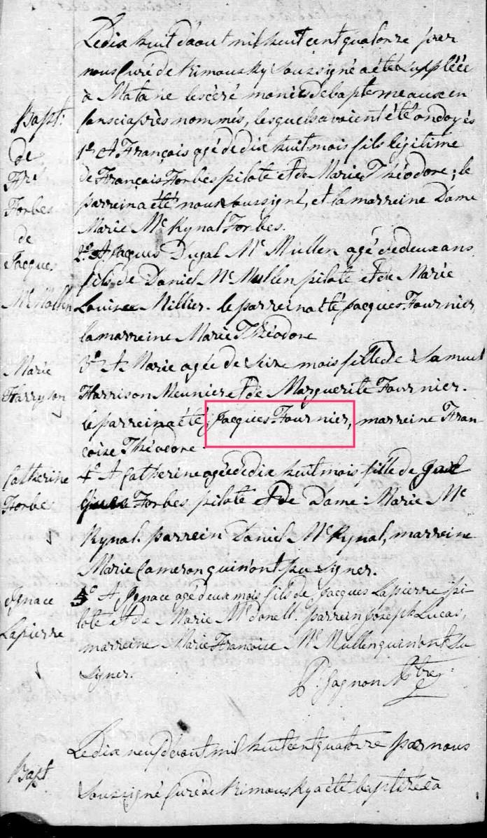 Samuel Harrisson et Marguerite Fournier 2 lignes de pensées qui dit VRAI - PAR DENISE PELLETIER MICHAUD 935136JacquesFournierparraindeMarieHarissonUntitled1