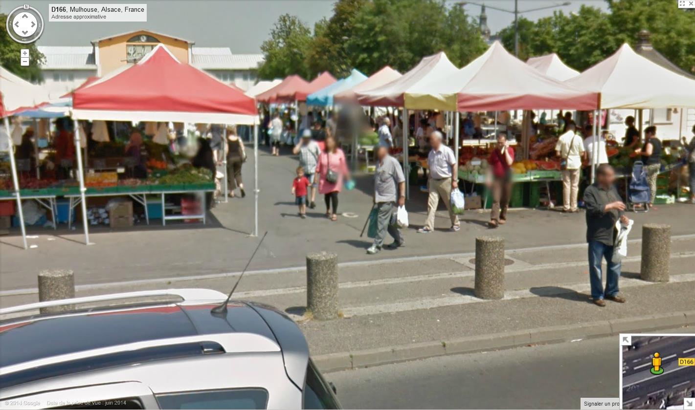 STREET VIEW : les scènes de marchés et brocantes - Page 2 935321Mulhousemarch2