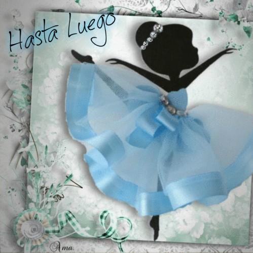 Bailarina con Tutú Celeste  940124hastaluego
