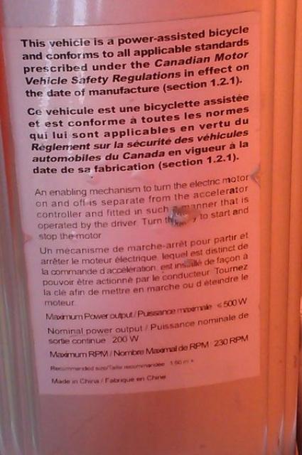 Loi gouvernant Vélo Électrique de la Police de Montréal 940568KGrHqFHJDcFHupdVJevBRpfP6Cb4820
