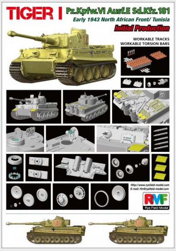 tiger - Tiger I 142 Tunisie Rye Field Model 94749828I2