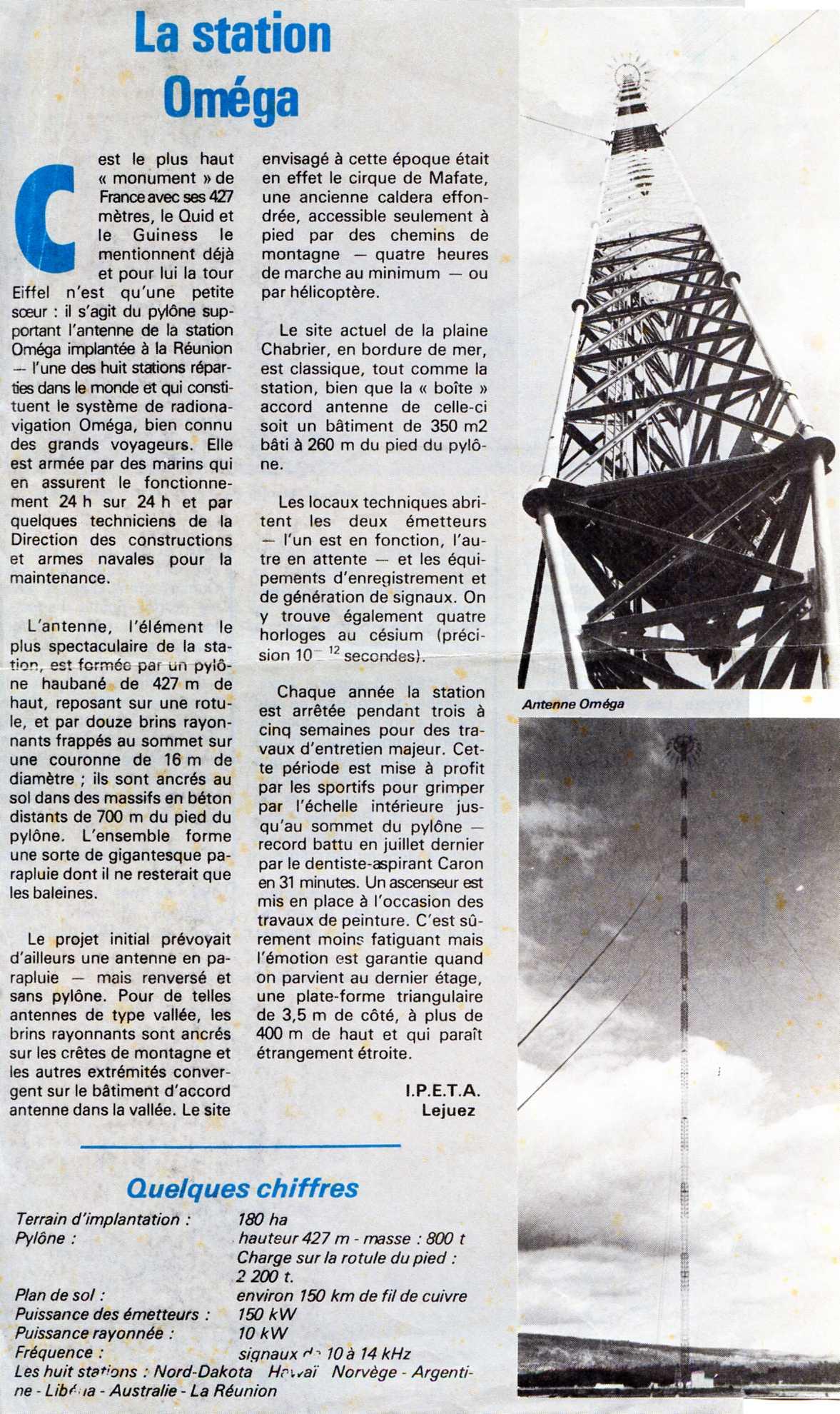 [Les stations radios et télécommunications] Station OMEGA 9490573501