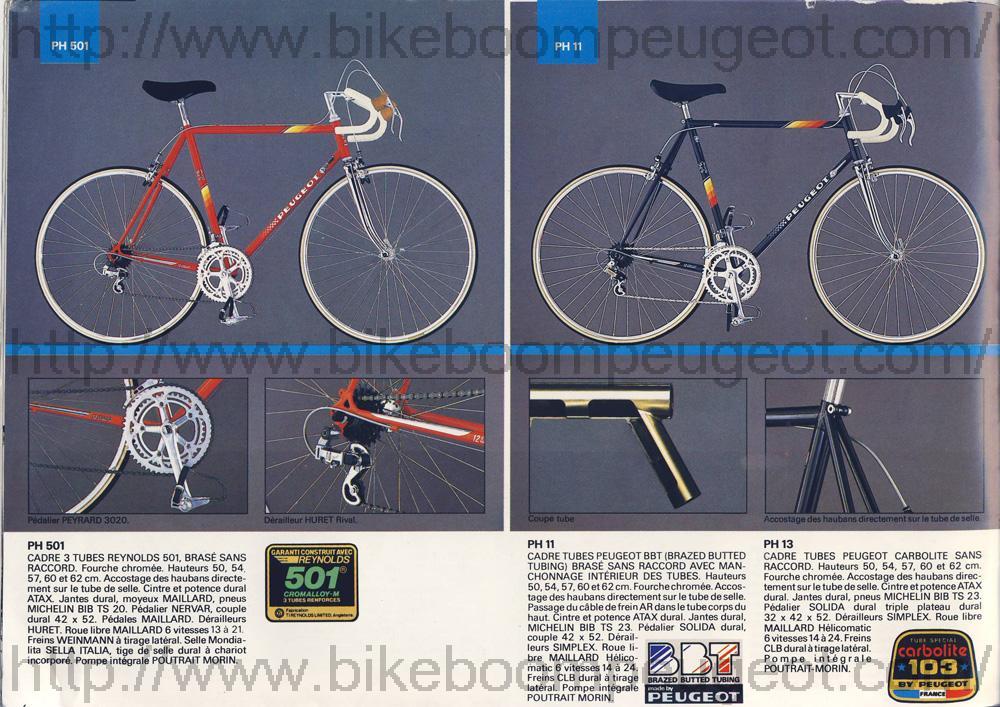Peugeot noir PH 501 de 1985  951745PeugeotFrance1985PH501PH11PH13BikeBoomPeugeot