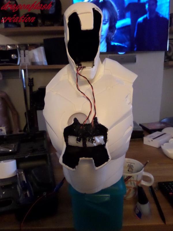 dragonflash création : buste iron man 1/2  (+-40 cm de haut) le final 9554063312