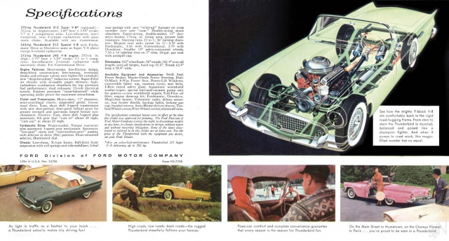 ford thunderbird 1957 au 1/16 955452brochure19572