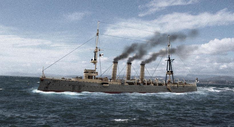[Revell] Croiseur SMS Emden - 1/350. 956596Emden26
