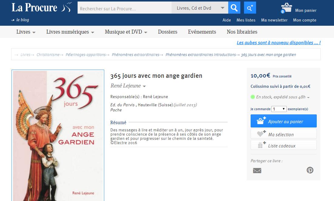 365 jours avec mon Ange Gardien 958297A01