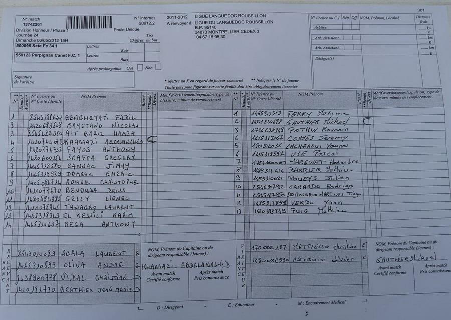 CETTE ( SETE ) ILE SINGULIERE REVIENT EN ( CHAMPIONNAT  DE)  FRANCE DE FOOTBALL AMATEUR  CFA 2 !!!!!!! 960024Photo007