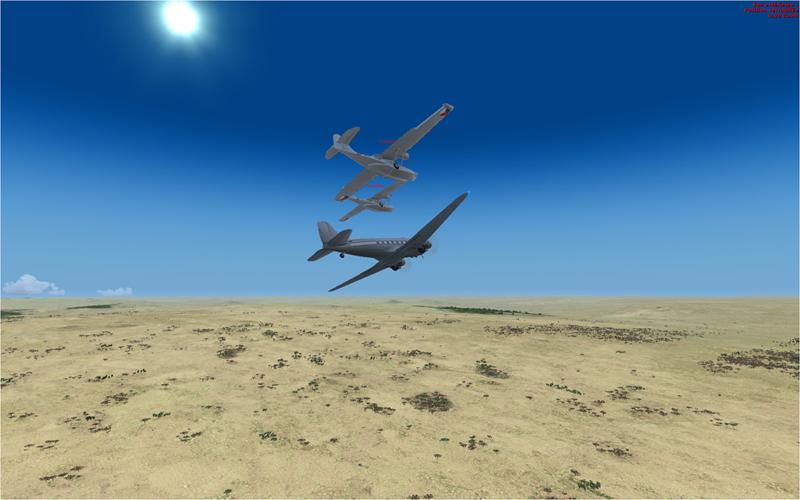 Vol en formation en Afrique (DC3) 960187201322222273932